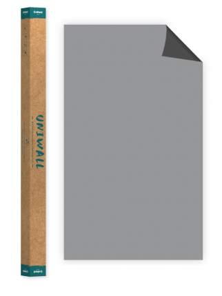 Самоклеющиеся магнитно-меловые обои светло-серые Continent Decor ROLLS-120-150-DSA