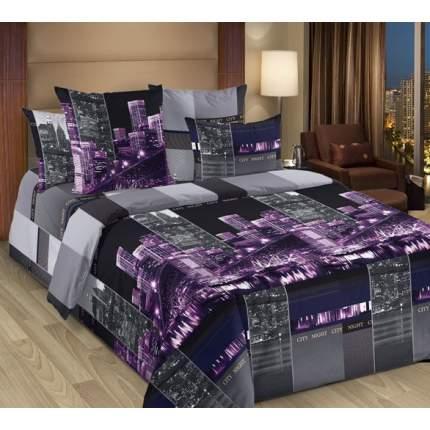 Комплект постельного белья 2-спальный Сити фиолетовый