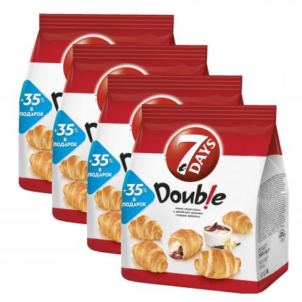Круассаны мини 7DAYS c кремом ваниль какао 300 г 4 упаковки