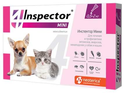 Капли для кошек и собак против блох, власоедов, вшей, клещей Inspector, 1 пипетка 0,4мл