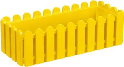Ящик с поддоном «Лардо», цвет желтый ЭЛЛАСТИК-ПЛАСТ