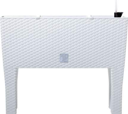 Prosperplast Ящик на ножках ротанг, 60 см, с системой полива, цвет белый