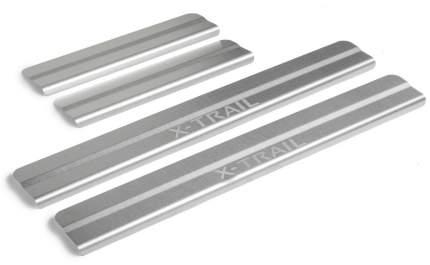 Накладки порогов Rival Nissan X-Trail III T32 2015-н.в., нерж. сталь, 4 шт., NP.4113.3