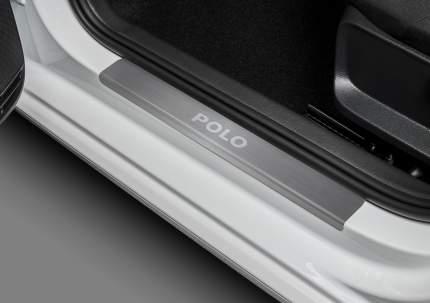 Накладки порогов Rival Volkswagen Polo V 2010-н.в., нерж. сталь, 4 шт., NP.5803.3