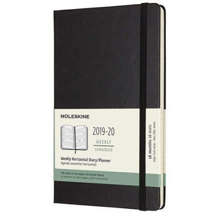 Еженедельник датированный на 18 месяцев Academic Horizontal Large 208 стр. 13х21 см черный