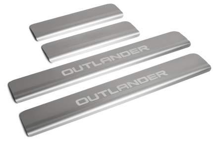 Накладки на пороги RIVAL для Mitsubishi Outlander III 2015-, с надписью, 4 шт., NP.4006.3