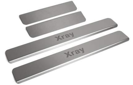 Накладки на пороги RIVAL для Lada Xray 2015-/Xray Cross 2018-, с надписью, 4 шт. NP.6008.3