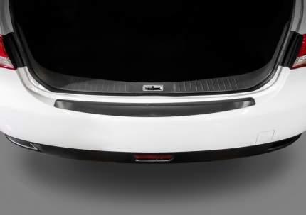 Накладка на задний бампер RIVAL для Nissan Almera G15 2012-2018, нерж. сталь NB.4104.1