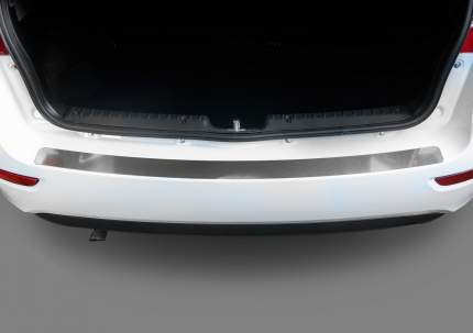 Накладка на задний бампер Rival Lada Kalina II хэтчбек 2013-2018, нерж. сталь, NB.H.6005.1