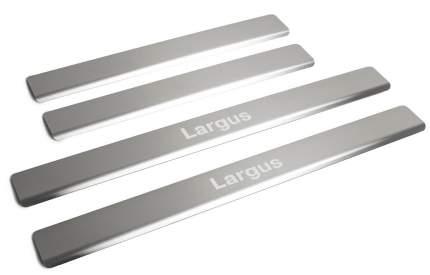 Накладки порогов Rival для Lada Largus 2012-2021 2021-н.в., с надписью, 4 шт., NP.6001.3