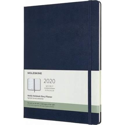 """Еженедельник датированный на 2020 год """"Classic"""" WKNT XL, 144 страницы, синий сапфир"""