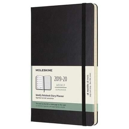 """Еженедельник датированный на 18 месяцев """"Academic WKNT"""" Large, 208 стр. 13х21 см, черный"""