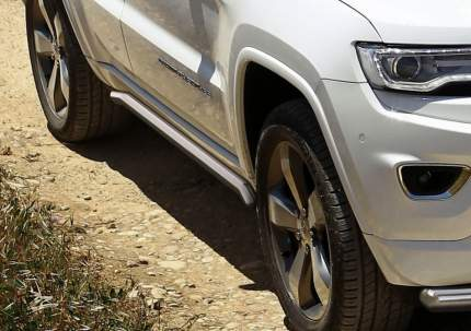 Защита порогов d57 Rival Jeep Grand Cherokee WK2 2013-н.в., нерж. сталь, 2 шт., R.2705.004