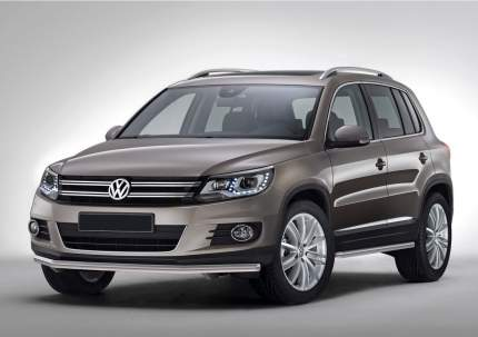Защита порогов d57 Rival для Volkswagen Tiguan I 2011-2017, нерж. сталь, 2 шт., R.5802.004