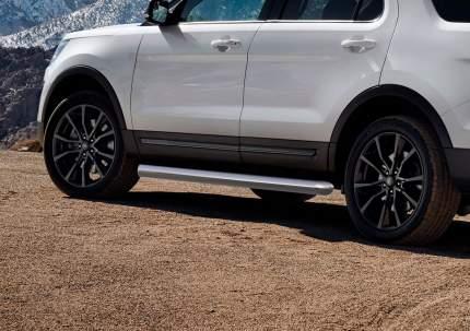 Защита порогов d76 Rival для Ford Explorer V 2015-2019, нерж. сталь, 2 шт., R.1806.003