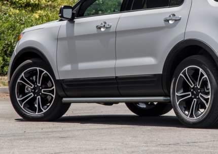 Защита порогов d76 Rival для Ford Explorer V 2011-2015, нерж. сталь, 2 шт., R.1804.003