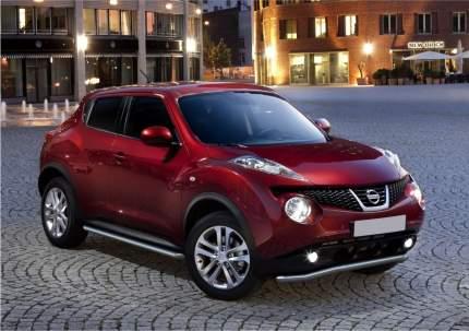 Защита порогов d57 Rival для Nissan Juke I (FWD) 2010-н.в., нерж. сталь, 2 шт., R.4115.002
