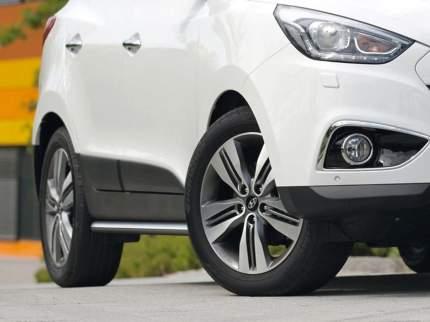 Защита порогов d57 Rival для Hyundai ix35 I 2010-2015, нерж. сталь, 2 шт., R.2301.006