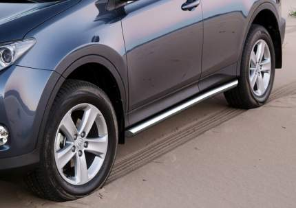 Защита порогов d57 Rival Toyota Rav4 IV (CA40) 2013-н.в., нерж. сталь, 2 шт., R.5712.006