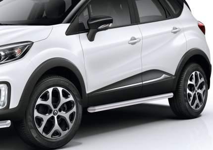 Защита порогов d57 Rival для Renault Kaptur I 2016-2020, нерж. сталь, 2 шт., R.4704.003