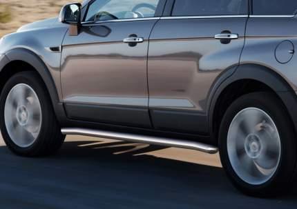 Защита порогов d57 Rival для Chevrolet Captiva I 2011-2016, нерж. сталь, 2 шт., R.1005.003