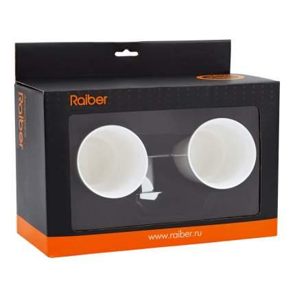 Держатель с 2-мя стаканами Raiber R50103, керамический