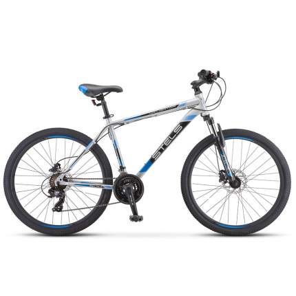 "Велосипед Stels Navigator 500 D F010 2020 20"" серебристый/синий"