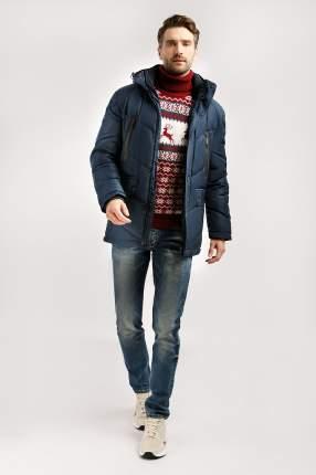 Зимняя куртка мужская Finn Flare W19-21009 темно-синяя 5XL