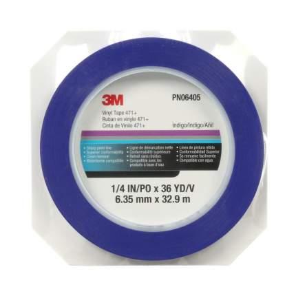 Клейкая лента контурная 3М Scotch 471+, маскирующая, синяя,  6 мм х 33 м, 06405