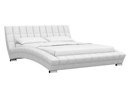 Двуспальная кровать Оливия Кровать Белый, экокожа