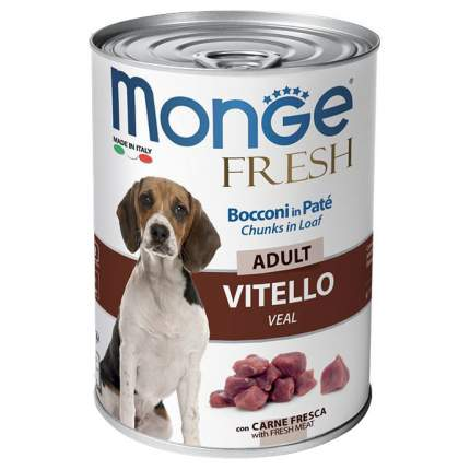 Консервы для собак Monge Dog Fresh Chunks In Loaf мясной рулет, телятина, 400 г