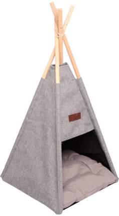 Домик для кошек и собак Lion Вигвам, серый, 35x35x47.6см
