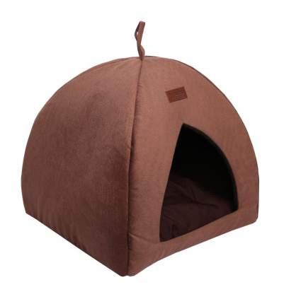 Домик для кошек и собак Lion Альмонд, коричневый, 42x42x45см