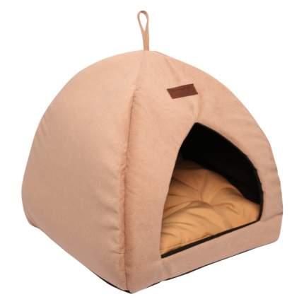 Домик для кошек и собак Lion Альмонд, бежевый, 42x42x45см