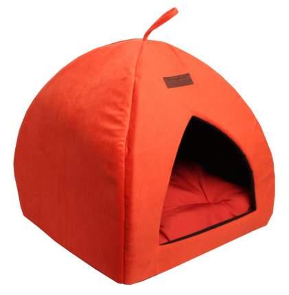 Домик для кошек и собак Lion Альмонд, оранжевый, 42x42x45см