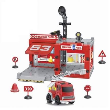 Конструктор Yako Пожарная часть с инерционной машиной, с отверткой, 67 деталей