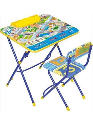 Комплект детской складной мебели Nika КУ3/14 ПДД со столом и стулом, с подставкой для книг