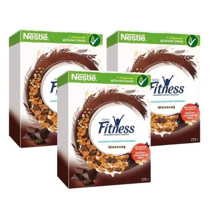 Хлопья Fitness 14 дней пшеничные с темным шоколадом 3*275г
