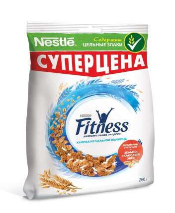 Хлопья Fitness пшеничные с витаминами и минералами 3*250 г