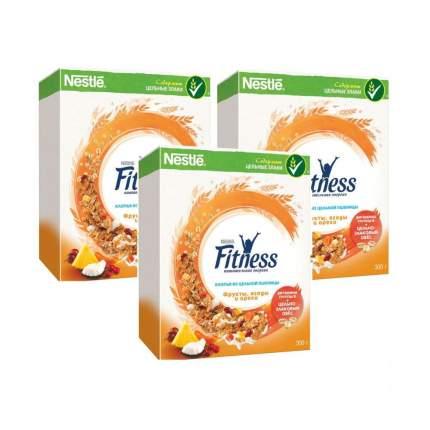 Хлопья Fitness 14 дней пшеничные с фруктами 3*300 г