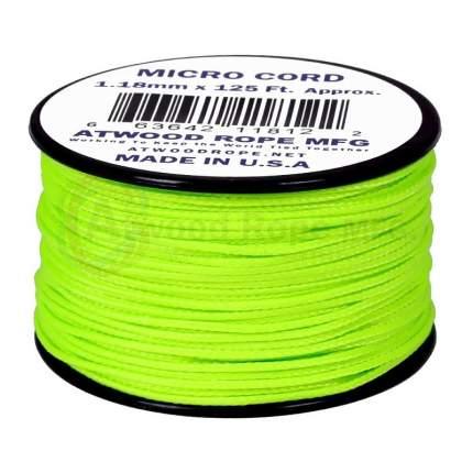 Паракорд AtwoodRope 1.18мм x 125' Micro Cord 38м (Neon green)