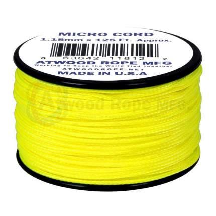 Паракорд AtwoodRope 1.18мм x 125' Micro Cord 38м (Neon yellow)