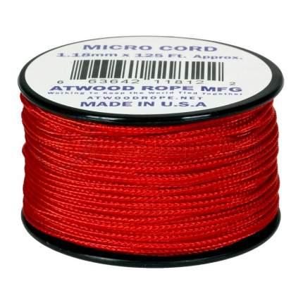 Паракорд AtwoodRope 1.18мм x 125' Micro Cord 38м (Red)