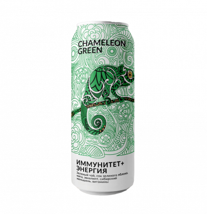 Напиток Green Chameleon энергетический без сахара эвкалипт 500 мл