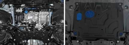 Защита картера и КПП Rival Hyundai Solaris 17-/Kia Rio SD 17-/Rio X-Line 17-, 111.2369.1