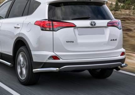 Защита заднего бампера d57 уголки Rival Toyota Rav4 CA40 2015-н.в., R.5718.006