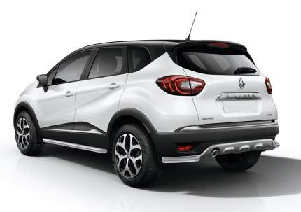 Защита заднего бампера d57 уголки Rival Renault Kaptur I 2016-н.в., R.4704.005