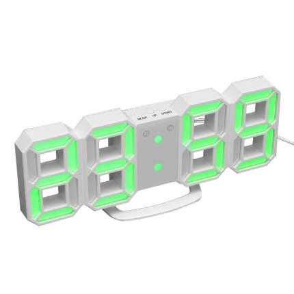 Настенные LED часы 3D (Белый, зеленый)