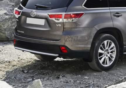 Защита заднего бампера d57 Rival Toyota Highlander II 2010-2014, нерж. сталь, R.5702.013