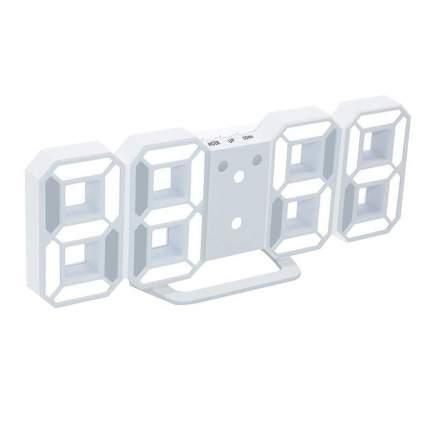 Настенные LED часы 3D (Белый, белый)